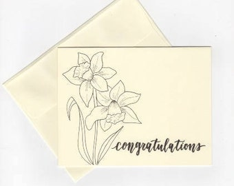 "Lily 4.25x5.5 Card ""Congratulations"""