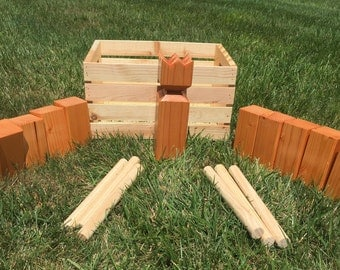 Natural Kubb Set w/ Carrying Crate