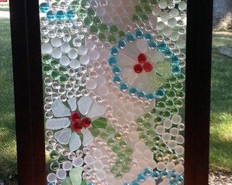 Beach Glass Flower Panel