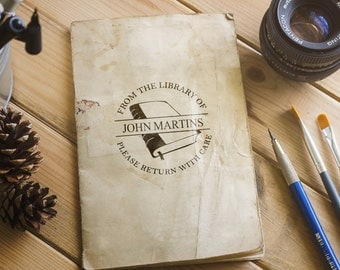 Stamp for book lovers, Stamp your book with a book stamp with your name!