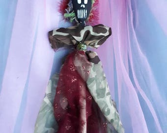 Authentic handmade Voodoo Doll, New Orleans style,  original,  blessed and spiritual assists with physical and spiritual healing, strength