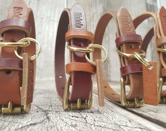Classic Buckle Leather Dog Collar