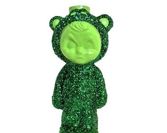 Green Frog LightBud Jr Candleholder