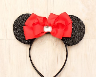 Red Mickey Mouse Ears, Minnie Mouse Ears, Mickey Mouse Ears, Party Mickey Ears, Minnie Ears, Mickey Ears, Disneyland Ears, Party Hat