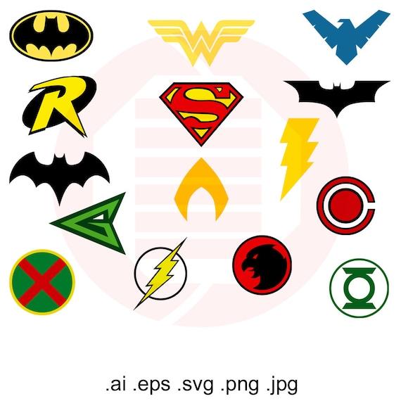 Justice league svg superhero symbol decal clipart logo cut - Symbole de superman ...