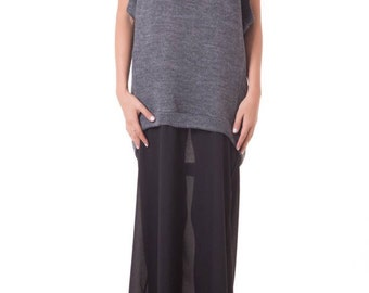 Knit long dress/ Loose dress/ Extravagant dress/ Party dress/ Maxi dress