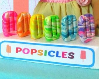 American Girl Food Popsicles Ice Cream 18 inch Dolls Summer Doll Treat, Doll Ice Cream Truck, Doll Dessert, AG Food, Doll Sweets Shop Food