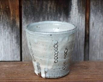 Cup - Sarah Matesz Pottery - Wheel Thrown – Hand Carved – White Slip