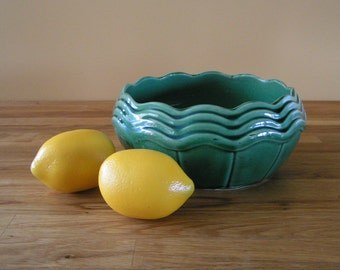 Vintage McCoy Planter or Serving Bowl Made in USA in the 1940s