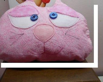 "Alice in Wonderland Cheshire Cat Throw Pillow/ 11x8"" Cheshire Cat Decorator Pillow/Cheshire Pillow Pet/Alice's Kitten Dinah Cushion/Bedding"