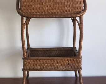 Antique Heywood-Wakefield Wicker Sewing Stand