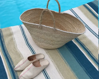 Sac en  osier / Sac de plage / Fait main / Wicker basket bag / Beach bag / Hand made