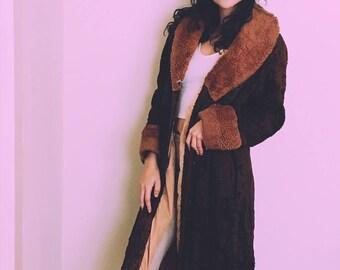 Vintage Retro Long Coat - Boho Chic 70s