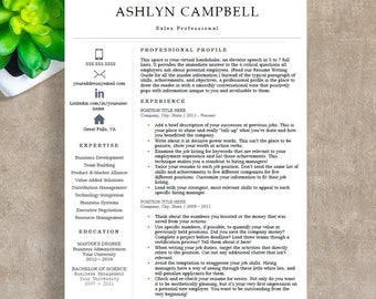modern resume template professional resume template for word 1 2 and 3 page - Resume Template It Professional