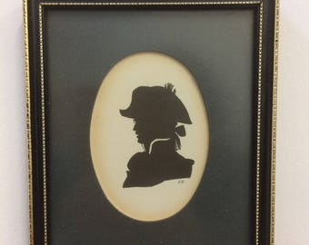 Antique Silhouette of a Military Man