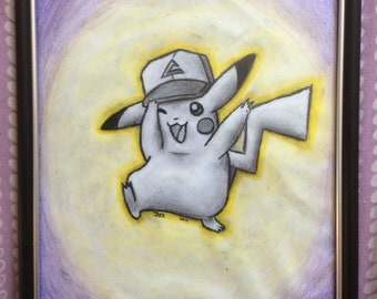 Happy Ash Hat Pikachu