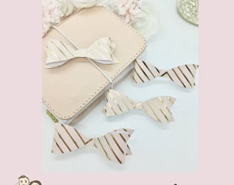BOW Die Cut | Foiled | Pink | Gold | Stripes | Bows | 3D | Erin Condren | TN | B1