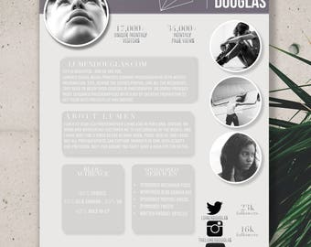 Lumen - One Page Media Kit Template for Bloggers - Customizable & Instant Download
