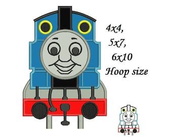 Thomas The Train Applique Design - 4x4, 5x7, 6x10