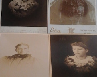 Antique  photo bundle  of ladies
