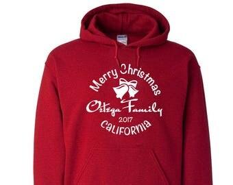 Family Christmas Unisex Hooded Sweatshirts Sweater Christmas Party Christmas Gift Custom Wholesale Bulk Personalized