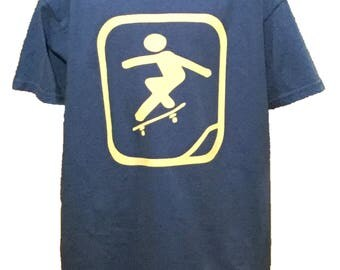 Skateboard t shirt etsy for Water based t shirt printing