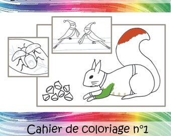 "Nature book ""Coloring book 1"""