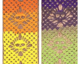 Crochet Skull Scarf // Handmade