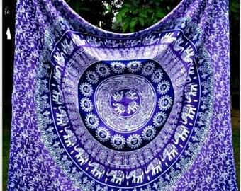Purple/Blue Mandala Tapestry