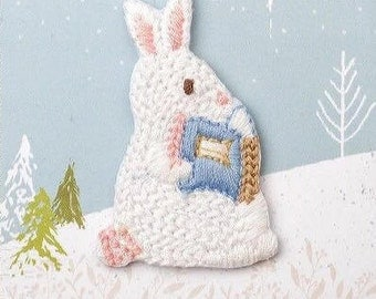 Rabbit Patch,Animal Patch,Iron on patch,Sew on patch,Embroidered Applique,Lovely Gift