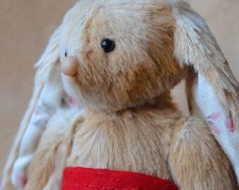 Artist Cute little Teddy Bunny Rabbit ooak soft plush handmade animal toy stuffed