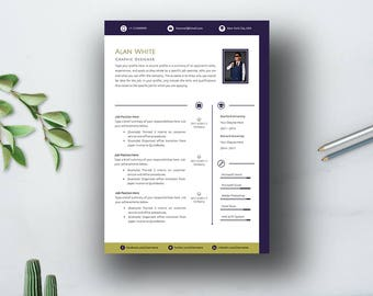 Business! Creative Resume Template, Cover Letter Template for Word | Modern & Professional CV Design