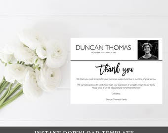 amazon com personalized funeral thank you cards and envelopes set - Personalized Funeral Thank You Cards