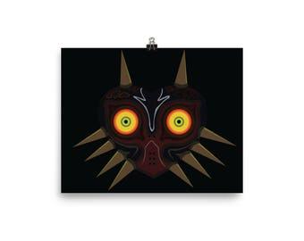 Wall Art, Legend of Zelda, Wall Decor, Art Print, Art, Art Prints, Large Art Prints, Contemporary Art, Modern Wall Art, majora, majoras mask