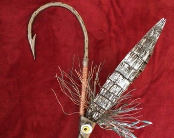 Copper and Iron Fishing Fly