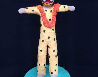 The tiger, paper mache figure