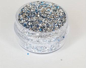 Silver Cosmetic Bio-degradable Glitter