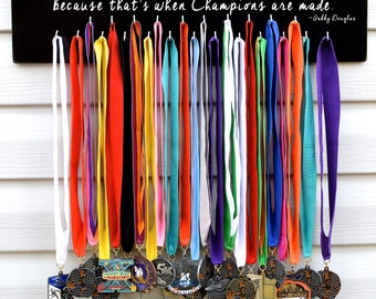 FAST SHIPPING Free Customizing Available Cheerleading Running Sports Medal Display Rack S1004 Hard Days