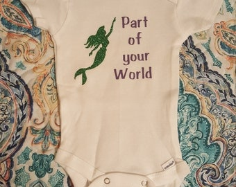 Part of you world-Little Merimaid Onesie