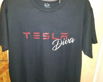 Tesla Diva Shirt (crew neck)