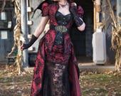 Vampire Costume | Steampunk Siren | Masquerade Dress, Gothic Victorian Dress, Halloween Costume, Gothic Dress, Steampunk Cosplay, Leather