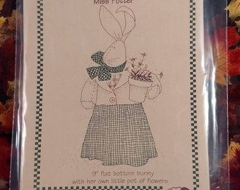 Vintage Uncut Miss Potter Bunny Pattern from Farmyard Creations
