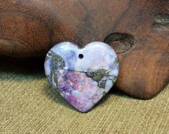 Purple Turquoise  Pyrite Matrix Heart
