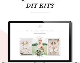 SALE! Squarespace Template - Photography Website Design - Photoshop Templates - DIY Website Branding