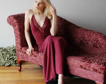 long bamboo nightgown - NOUVEAU womens bamboo sleepwear range - made to order