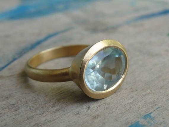 Aquamarine Ring , Solitaire Aquamarine Ring , Cocktail Ring , Aquamarine Statement Ring , Aquamarine Jewelry , March Birthstone Ring