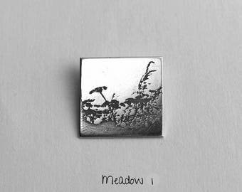 Meadow - Photoetched Pendant -  Ready to Send!