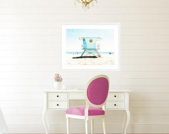 Beach Kids Room, Coastal Bedroom Decor, Coastal Living, Colorful Fun Wall Art , Kids Room Art, Lifeguard Tower,  Coastal Beach Decor