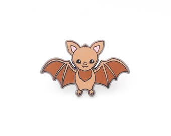 Brown Bat Enamel Pin - Hard Enamel Pin Bat Pin Vampire Bat Pin Badge Kawaii Pin Bat Brooch Spooky Enamel Pin Halloween Pin Halloween Jewelry