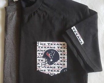 Houston Texans Pocket T-Shirt, Houston Texans T-Shirt, NFLTexans Pocket T-Shirt,NFL Houston Texans pocket Tees Men's football pocket T-shirt
